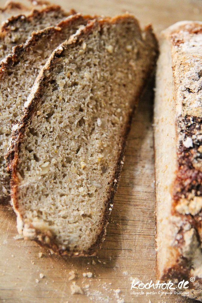 Quinoa-Sonnenblumen-Sauerteigbrot glutenfrei | kochtrotz - Rezepte für Gluten-Unverträglichkeit, Fructose-Intoleranz, Laktose-Intoleranz, Histamin-Intoleranz, Zöliakie, Sorbit-Intoleranz, jetzt auch vegan und sojafrei