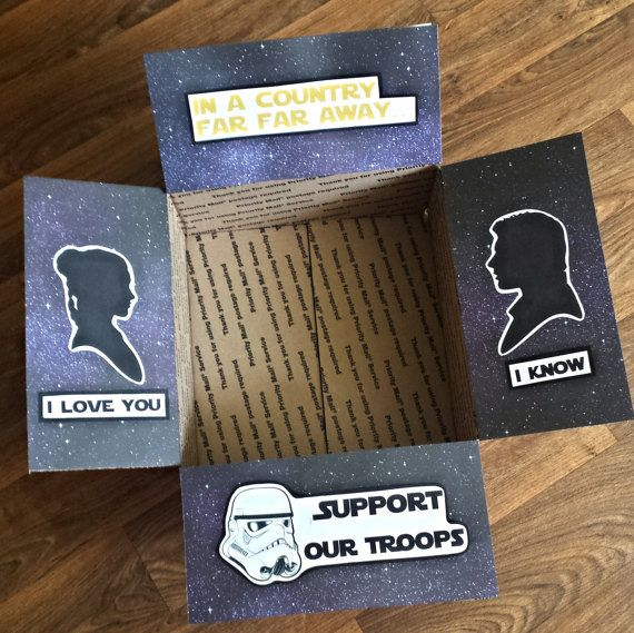 Star Wars Deployment Care Package Decorating Kit- I love you I know- Support our troops
