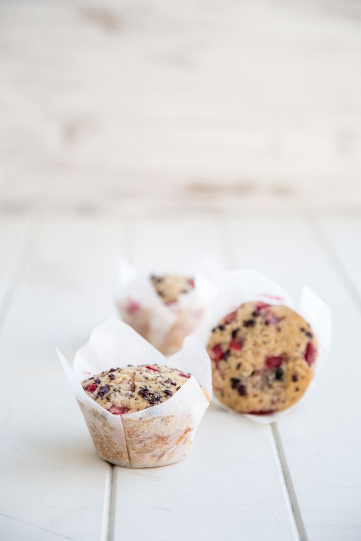 Strawberry Coconut Chia Seed Muffins - Cook Republic