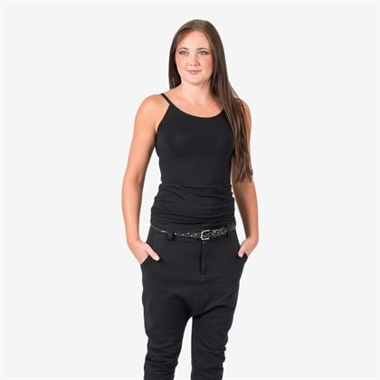 Sweet strap singlet - black