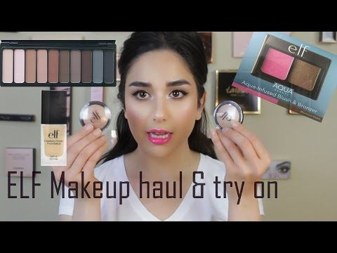 YouTube Elf haul / one brand makeup look