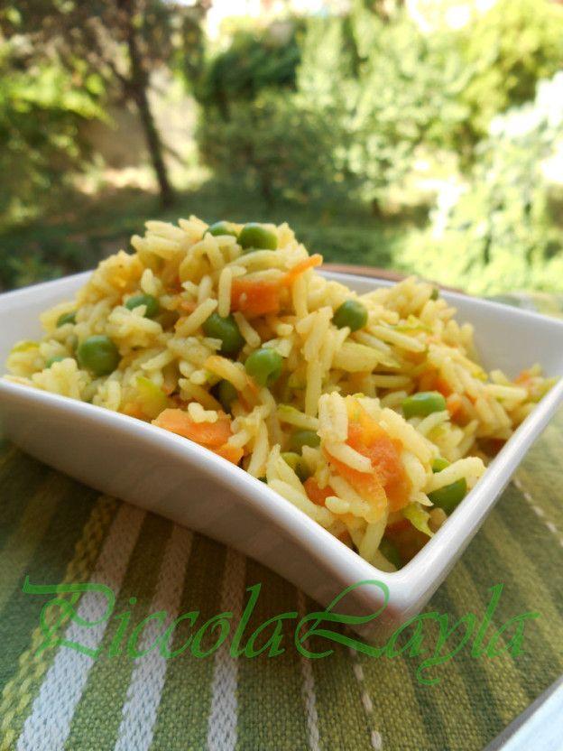 Riso basmati al Curry con Verdure allo Zenzero