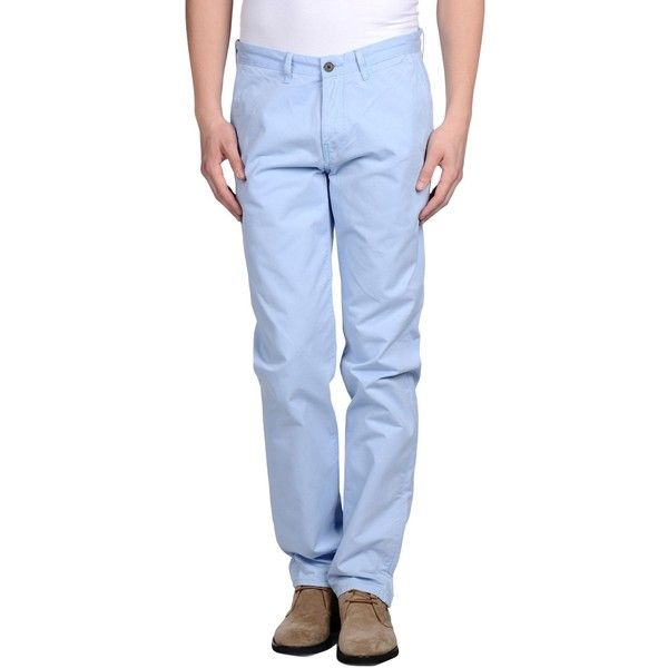 Chino By Ben Sherman Casual Pants (4610 RSD) ❤ liked on Polyvore featuring men's fashion, men's clothing, men's pants, men's casual pants and sky blue