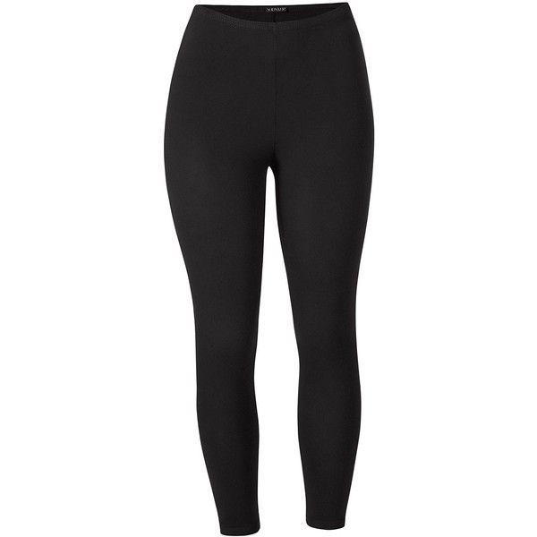 Venus Plus Size Women's Basic Capri Leggings (£7.67) ❤ liked on Polyvore featuring plus size women's fashion, plus size clothing, plus size pants, plus size leggings, pants, bottoms, leggings, black, jeans and cotton spandex pants