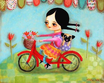 Время с Tascha Velocipede,  Trike, Cat Painting, Artists Tascha, Frida Kahlo, Frida Khalo, Tascha Parkinson, Ideas Mexicanasfrida, Colors Inspiration