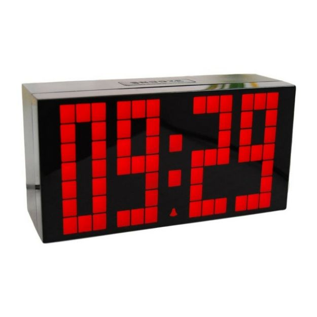 Digital Alarm Clock and Wall Clock Modern Glossy Design with Countdown Clock Timer and Temperature Display