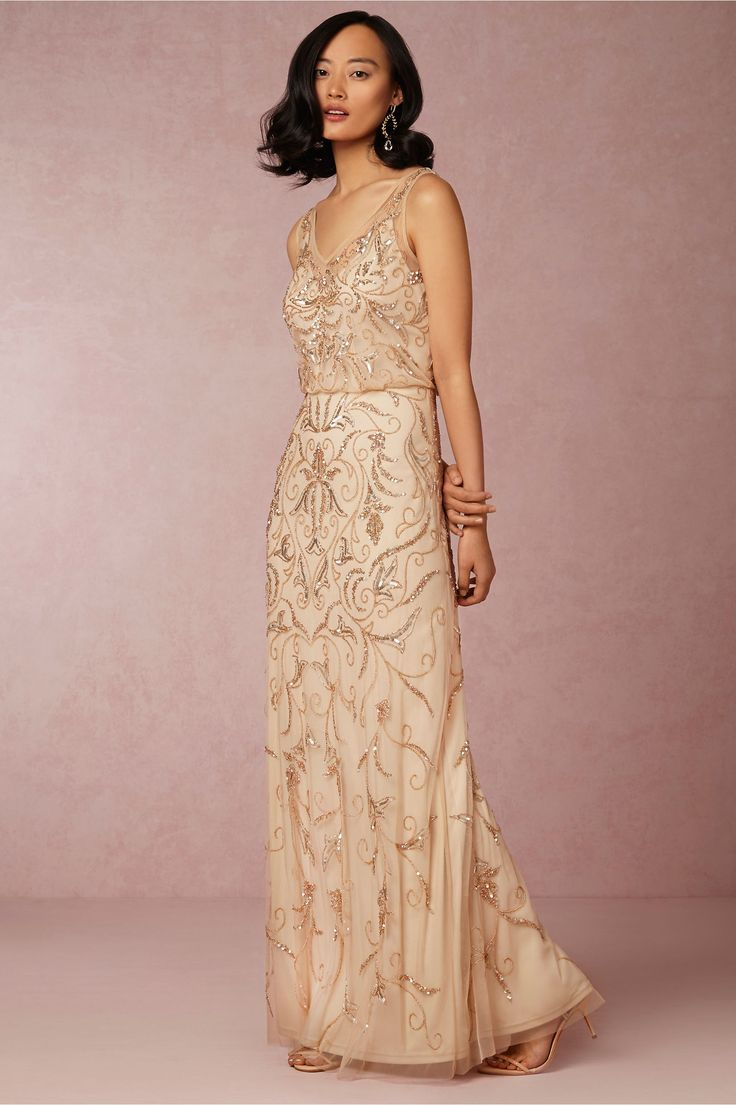 Dresses for Bridesmaids: Favorites from BHLDN! Our picks for pretty bridesmaid dresses and romantic dresses for weddings from BHLDN. Sequined, beaded, and pastel colored dresses for wedding parties.