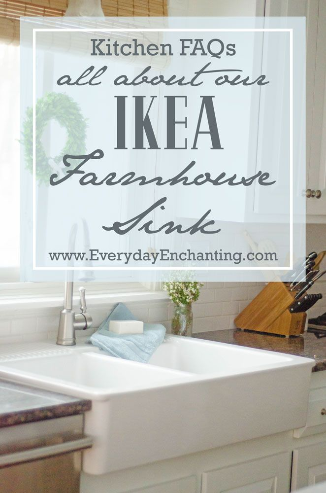 Are you considering an Ikea Farmhouse Sink? @nina_hendrick answers some popular questions and shares her thoughts on this affordable answer to the apron sink.