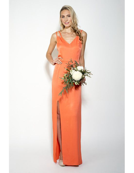 Noreen Maxi | Amber Whitecliffe #nzmade #nzwedding #orangebridesmaid