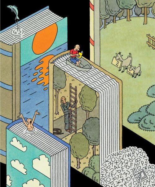 Un verano entre libros y lecturas (ilustración de Joost Swarte)