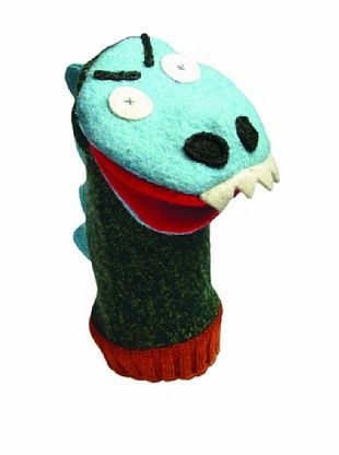 28% OFF Cate & Levi Unisex Dinosaur Animal Puppet, Blue/Green/Red
