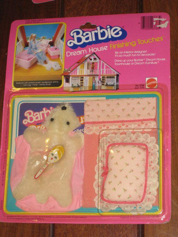 1981 Mattel Barbie Dream House Finishing Touches - Bedroom Accessory Set #3768 NRFP