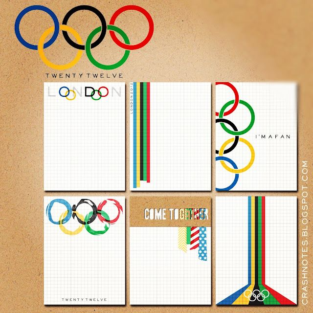 How cute is this? crashnotes: an olympics #projectlife freebie (erica ROCKS!!)