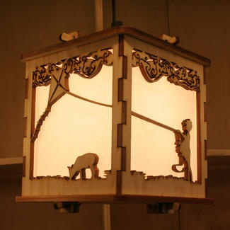 Gorgeous laser-cut wooden lantern lights from Curious Customs. Saw them in Austin this weekend; wish they had the lantern I wanted. Alas, they were sold out!