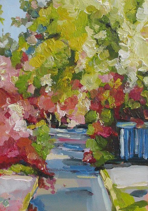 Fallen Blossoms Painting  - Fallen Blossoms Fine Art Print