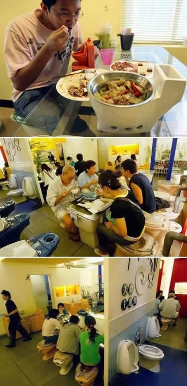 Marton Theme Restaurant in Kaohsiung, Taiwan, has toilet concept for their unique restaurant. ~ no comment!
