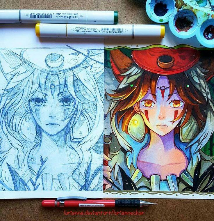 Mononoke Before and After. By: larienne.deviantart