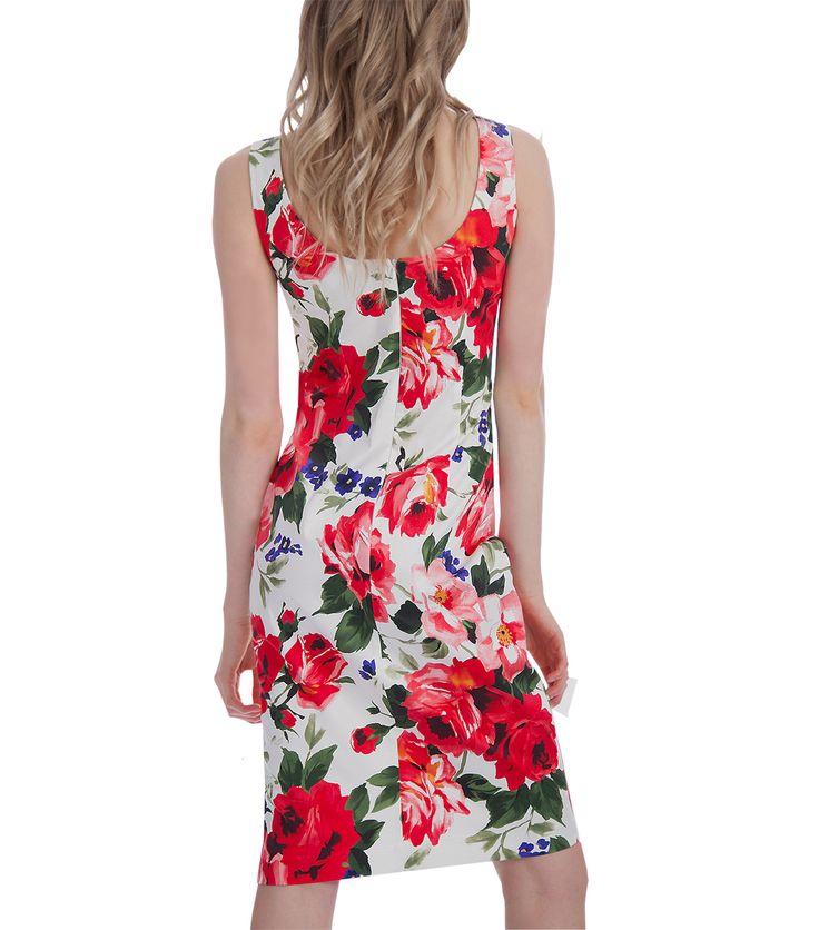 Φλοράλ βαμβακερό φόρεμα (πίσω)
