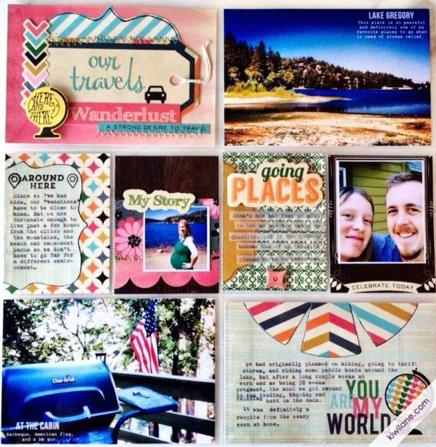 Road trip- Pocket Page Layout using the As You Wish collection by  FancyPantsDesigns.com
