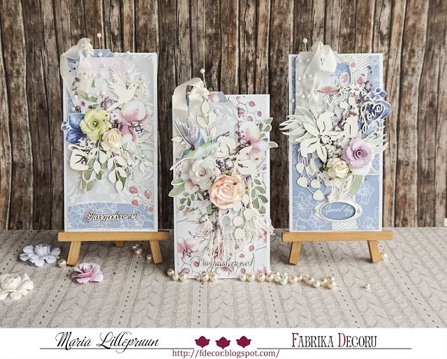 Handmade romantic wedding cards by Maria Lillepruun