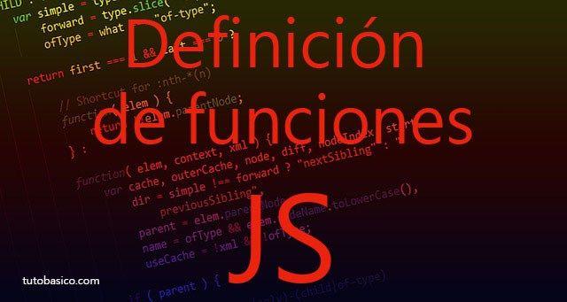 Definición de funciones JavaScript