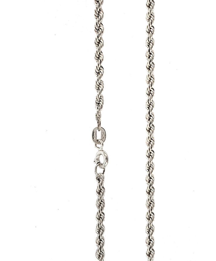 Αλυσίδες : Αλυσίδα λευκόχρυση Κ14-50cm AL144
