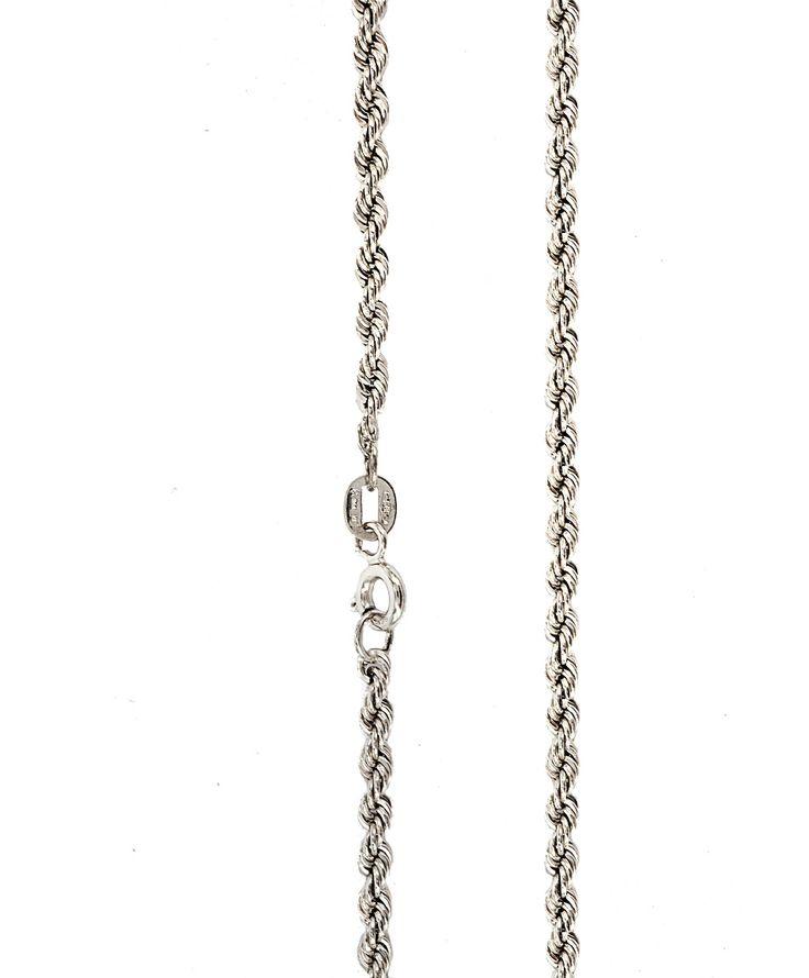 Αλυσίδες : Αλυσίδα λευκόχρυση Κ14-45cm AL143