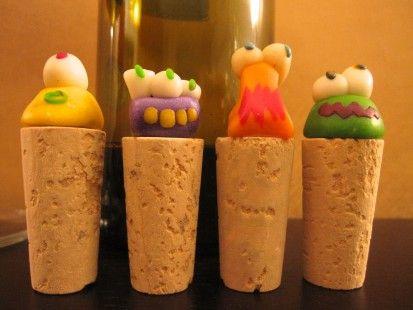 Tappi cernit e sughero - set 4 pezzi : Stoviglie, bicchieri di ilmondocomelovorrei su ALittleMarket http://www.alittlemarket.it/vaisselle-verres/tappi_cernit_e_sughero_set_4_pezzi-1974426.html