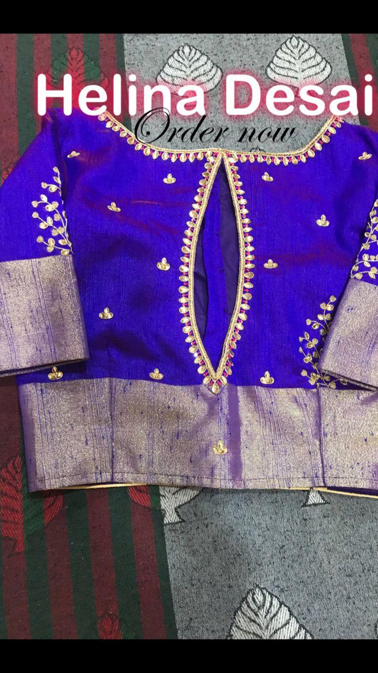 #traditional#kundan#handwork#blouse#