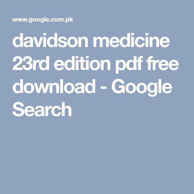 davidson medicine 23rd edition pdf free download - Google Search