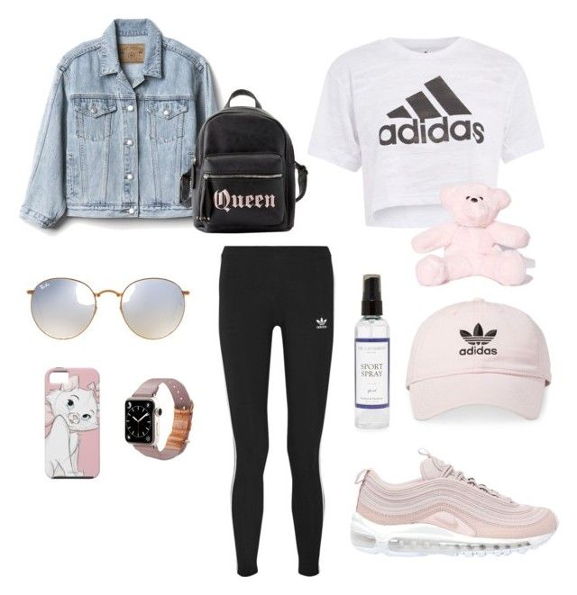 """""""Gym Style"""" by matinapapadopoulou on Polyvore featuring Topshop, Gap, NIKE, adidas, Ray-Ban, TOMS, adidas Originals, The Laundress, Charlotte Russe and Sugar Thrillz"""