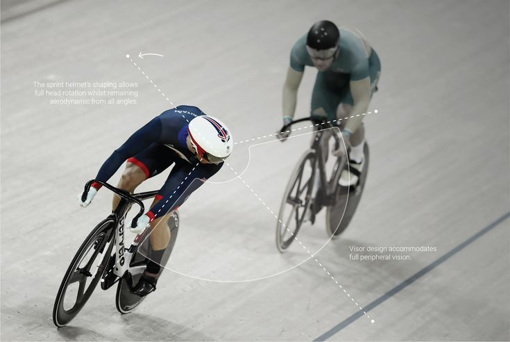 Team GB cycling helmet olympic