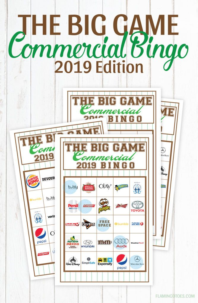 2019 Big Game Commercial Bingo Movies And Tv And Pop Culture