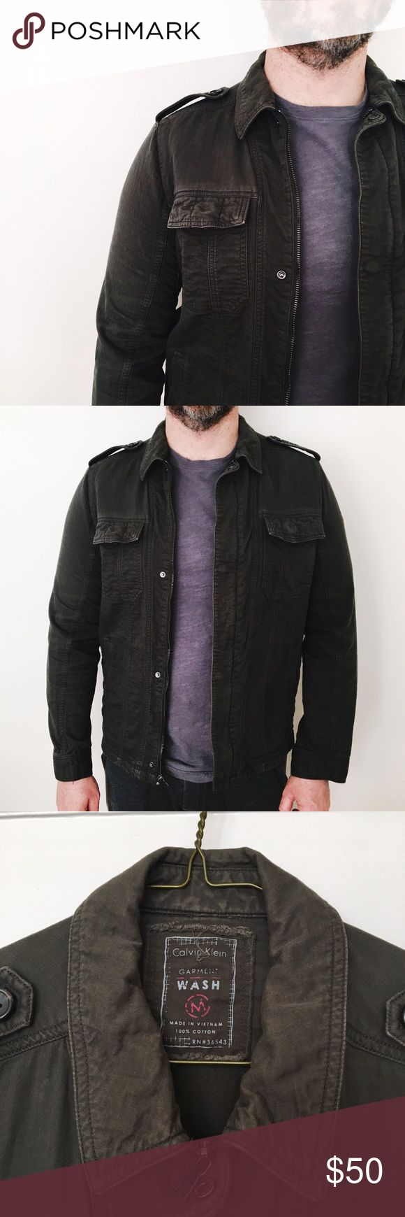 Calvin Klein Military Jacket (Field Jacket) Good condition and super on trend, military / utility / field jacket style. Some distressing back, pictured. Calvin Klein Jackets & Coats Military & Field