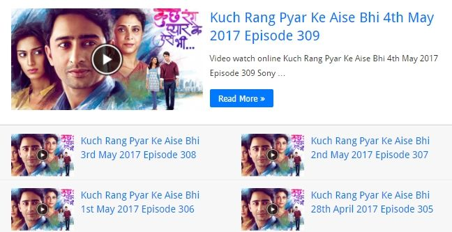 Video watch online HD today latest all new full episodes of Sony Tv Kuch Rang Pyar Ke Aise Bhi. KRPKAB is an Indian hindi drama serial complete episodes.  http://kuchrangpyarkeaisebhi.net/