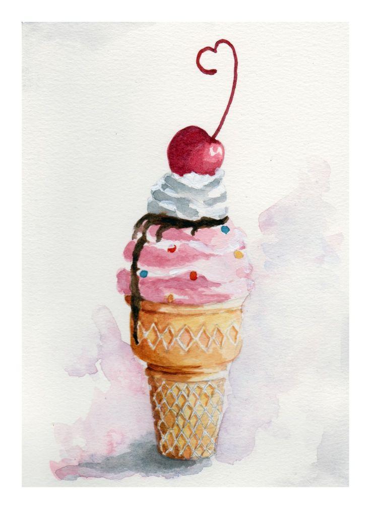 Картинки сладостей мороженое для срисовки