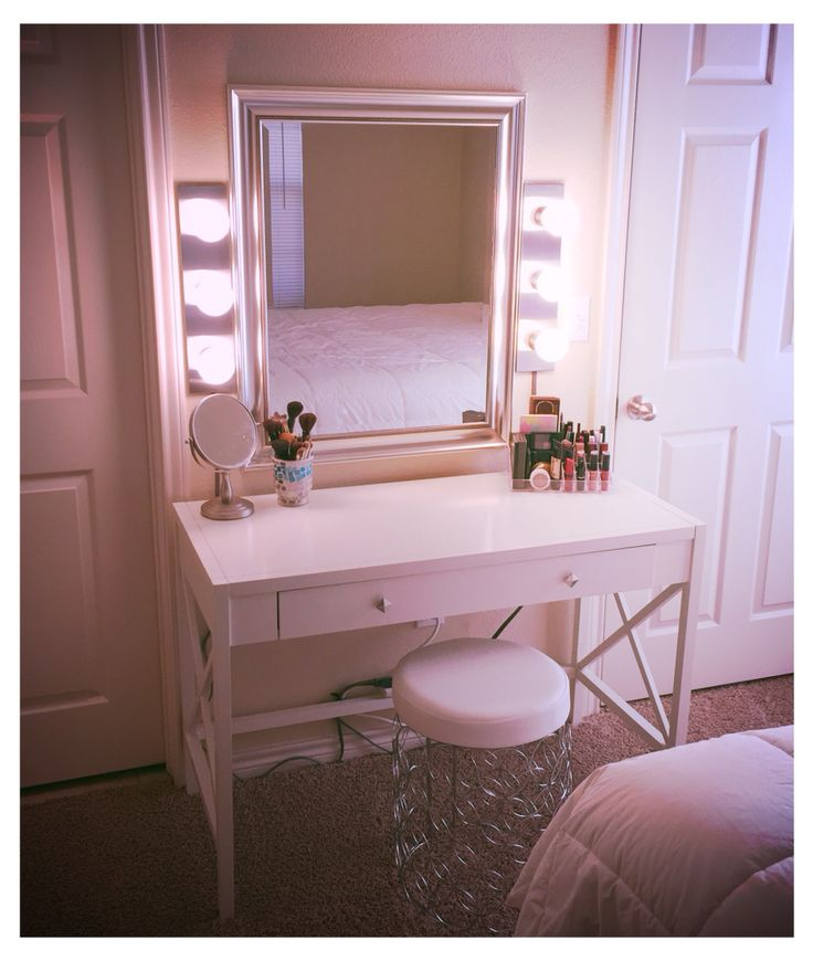Diy Vanity Dustin Made For Me Desk Target 100 Mirror