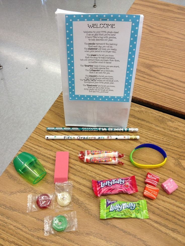 Welcome Back Poem Goodie Bag for the beginning of the school year!