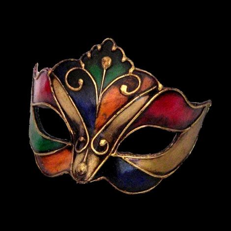 I actually made my own venetian mask with this design