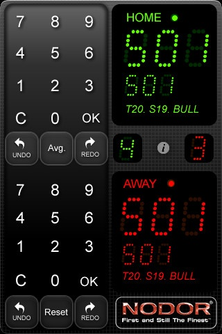 Nodor Darts Scorer iPhone and iPad app by Lakeland Graphics. Genre: Sports application. Price: $4.99.