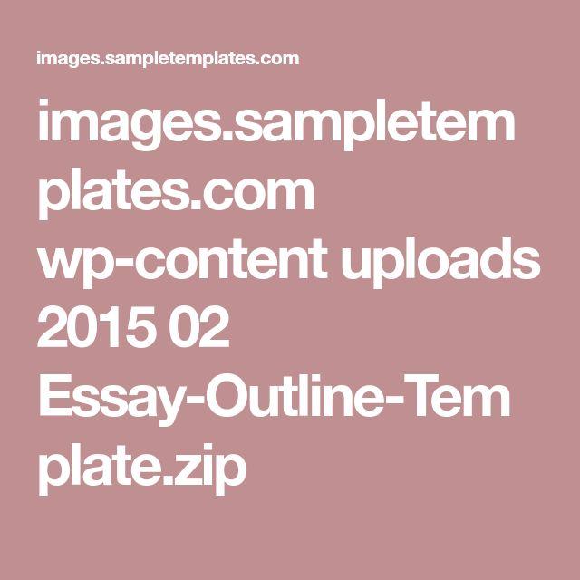The 25+ best Essay outline template ideas on Pinterest - demonstration speech example template