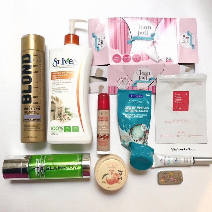 February Empties:  💜Blond Brillance Tempporary Color Care in Cool Blonds 💜St. Ives Oatmeal & Shea Butter Body Lotion 💜Glamglow Daily Dual Cleanser 💜Cotton Labo Clean puff 💜Bourjois healthy mix serum in Number 53 💜Freeman Dead Sea Minerals Anti-Stress Mask 💜Skinfood Peach Sake Silky Finish Powder 💜Cosrx Acne Pimple Master Patch 💜Etude House Dr. Mascara Fixer in Super Longlash 💜Avon's Glossy Lip Tins in Tropical Pink ⠀⠀⠀⠀⠀⠀⠀⠀⠀