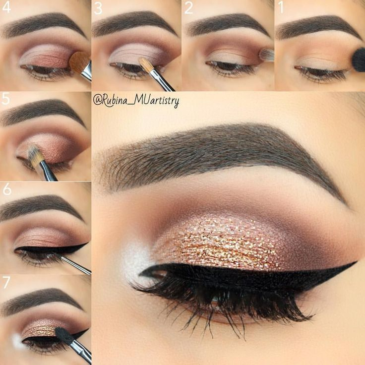 26 sencillos tutoriales paso a paso de maquillaje para principiantes #Eyemakeup