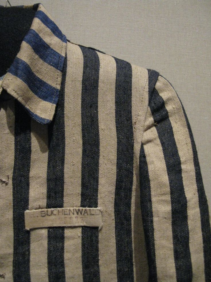 An authentic uniform, worn by prisoners in concentration ...