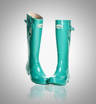 Catwalk Turquoise - - Turquoise trending on  London Fashion week. www.rockfishwellies.com