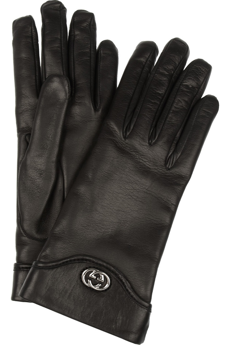 Black leather quilted gloves with cashmere lining - Gucci Cashmere Lined Leather Gloves Black 340 Http Hollyrotic Mybigcommerce