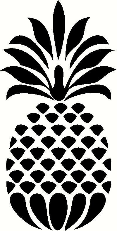 Pineapple Silhouette 10 Doors Stencils Silhouette