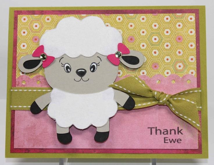 #card #rubberstamp: Card Rubberstamp, Cricut Cards, Create A Critter, Card Ewe, Handmade Cards, Cards Inspiration, Card Ideas, Cards Cricut Create, Critter Cards