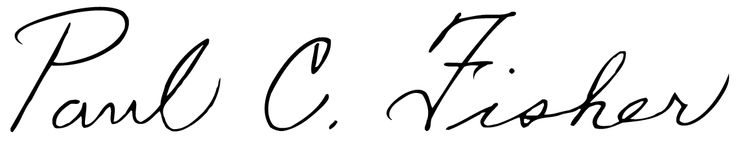 In observance of National Handwriting Day 2015, we'd like to share with you the signature of Mr. Paul C. Fisher, inventor of the Space Pen and founder of Fisher Space Pen Co.  Penmanship is important, lets keep those pens moving!
