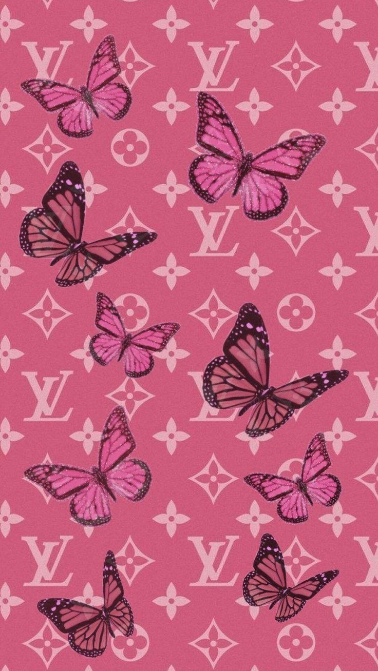 Butterfly Lv In 2020 Butterfly Wallpaper Iphone Pink Wallpaper Iphone Iphone Wallpaper Tumblr Aesthetic